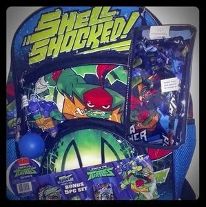 New TMNT Backpack, Lunchbox and Pencil Holder
